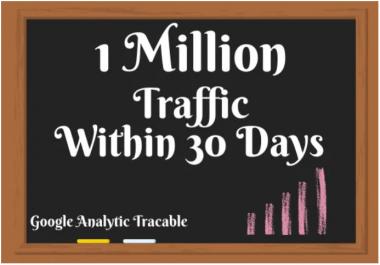 I will give you 1 million organic high quality web traffic