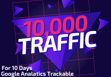 I will give you 10,000 niche targeted organic traffic for 10 days