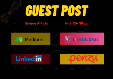 I Will Write & Publish Guest Post in Medium, LinkedIn, Penzu, and LiveJournal