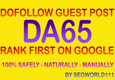 Write and Publish 3 Guest Posts on DA65 Real News Blogs - All Niche Accept