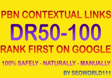 Dofollow 35 PBN Contextual Links - DR50-100 - Rank First On Google