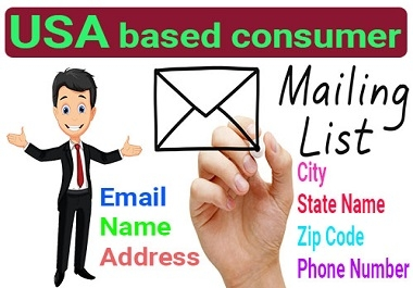 I will provide 5k verified USA based consumer email list