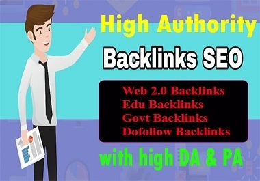 High Authority Web 2.0, Edu, Govt, Dofollow Profile backlinks for Google rank