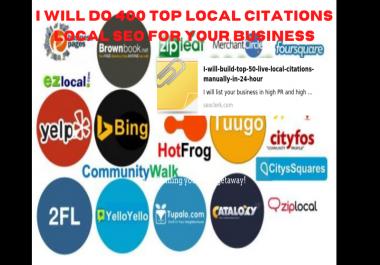 I will do Top 150 live USA local citations for local business seo
