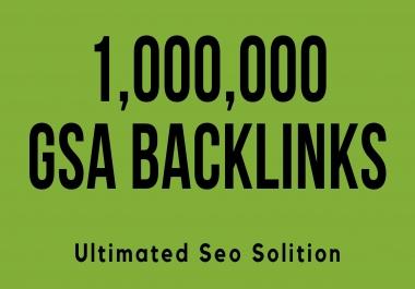 Build 1000000 GSA SER live solid backlinks high quality SEO backlinks
