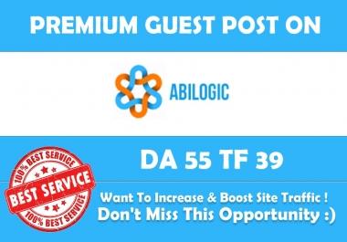 Publish Guest Post on Abilogic.com DA 55 - Genuine Backlink