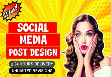 I will design eye catching social media post