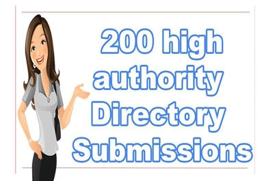 i will create 200 high authority directory submissions for your website