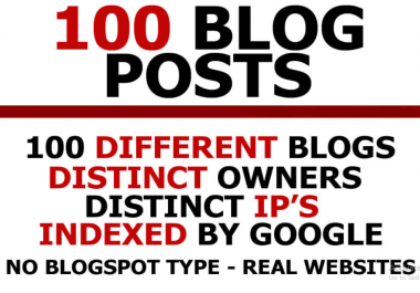 I will do 100 guest posts, get 100 blog posts
