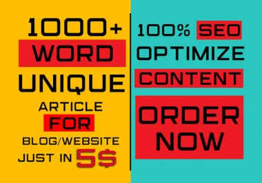 Write 1000 words High Quality SEO Optimized and Well Researched Article