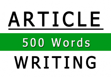I Will Write 500 words Article/Content that is SEO Optimized and Unique on any topic