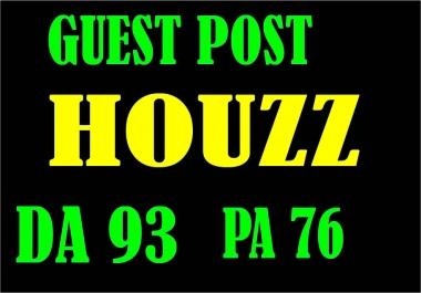 Publish A guest post on Houzz DA 93