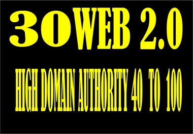 Create 30 web 2.0 profile backlink