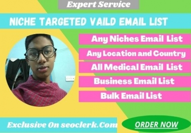 I will collect your niche targeted 5k vaild email list