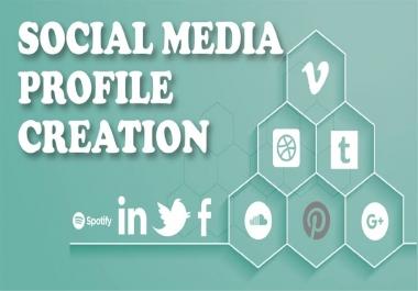 Create 15 High DA social profile creation seo backlinks for your website