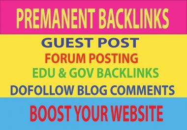 5 Guest Post, 2 Edu Backlinks, 20 Forum Posting & 30 Blog comments Backlinks