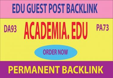 Academia .EDU Guest Post Backlink DA93 PA73