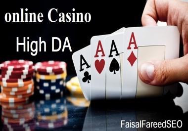 Get 150 DA 60-50+ high quality casino,Gambling and betting sites.
