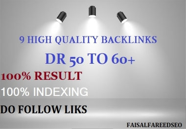 9 DR 60 to 50+ permanent homepage high quality pbn backlinks.