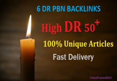 Get 6 DR 65 to 50+ permanent homepage high quality pbn backlinks