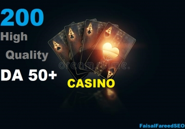 Get 200 DA 60-50+ High quality gambling,poker,Judi related sites.