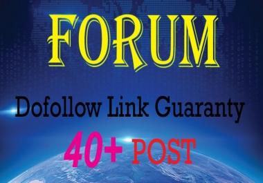 Create Manually 40+ Forum Posting Backlinks DA 40 to 100