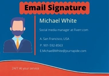 I can design awesome clickable email signature