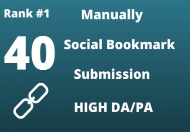 I will create manually 40 social bookmarking submissions for HQ backlinks
