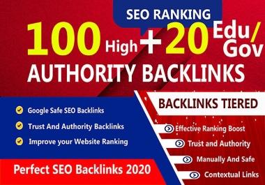 I will manually do 100 PR9 + 20 EDU/GOV Safe SEO High Quality Backlinks 2020 Best Results