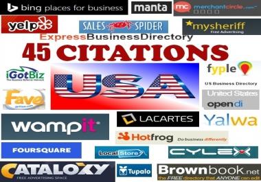 I will build 45 top USA local citations