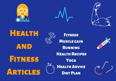 I will write 600+ words mental health and fitness articles for your blog