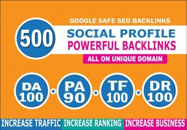 I will create 500 high da do follow profile backlinks manually for SEO ranking