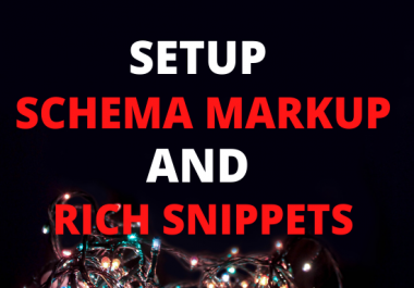 I will do 1 schema markup and review rich snippet in all platform