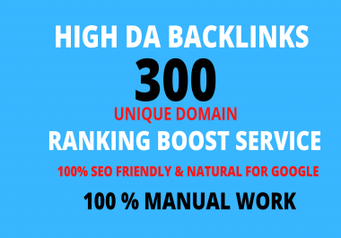 Create manually 300 High DA profile backlinks