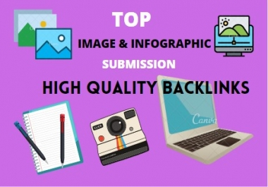 Top 25 Image or Infographic sharing submission high authority backlinks