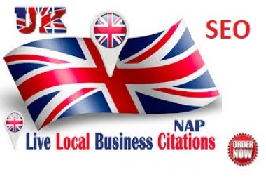 I will do Live 60 top local citations for United KIngdom