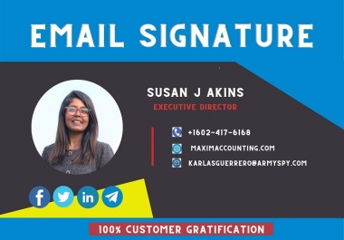 Professional Clickable and HTML Email Signature