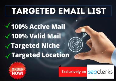 2K Email List for Niche Base Marketing