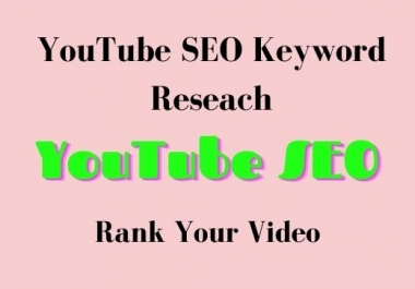 I will do YouTube promotion and video marketing, video SEO