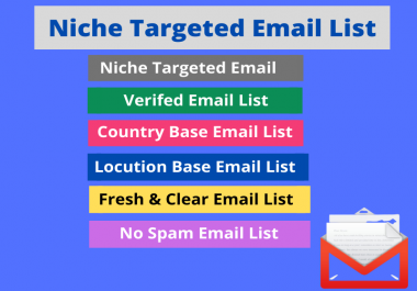 I will give a 5k niche based targeted email list