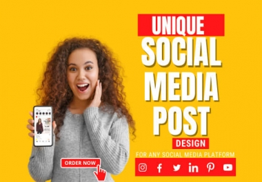 I will design 5 social media posts for instagram, facebook