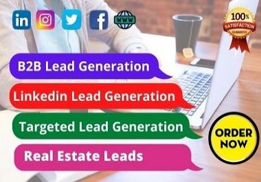 I will do 100 Targeted b2b Lead Generation Linkedin lead
