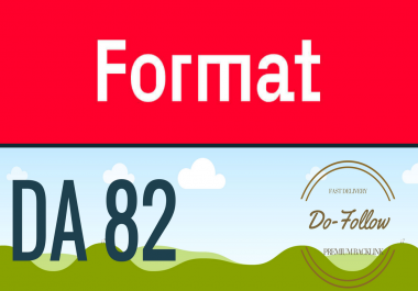 I will give you a Dofollow guest post on Format.com (DA 82)