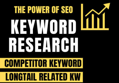I will do deep SEO keyword research within 24 hours