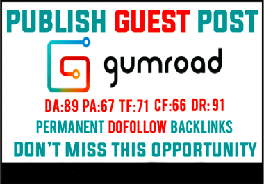 I Will Publish Your Article On Gumroad Dofollow Backlinks