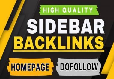 I will create high authority sidebar backlinks