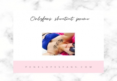 I will promote your onlyfans page