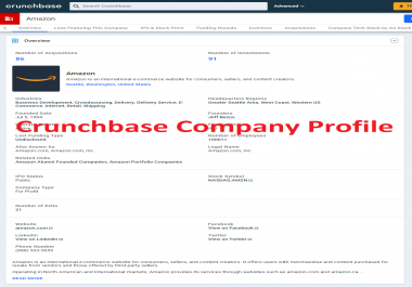 Create crunchbase profile for your business or personal