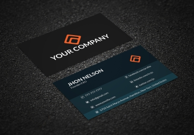 I will design a Stunning and unique business card within 24 hours