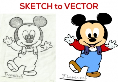 I will convert your image, sketch, logo to vector within 24 hours